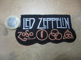 Led Zeppelin nažehľovacia nášivka vyšívaná (možnosť nažehliť alebo našiť na odev)