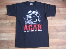 A.C.A.B. čierne pánske tričko 100%bavlna