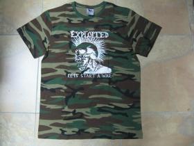 Exploited  - Lets start a War....pánske maskáčové tričko 100%bavlna