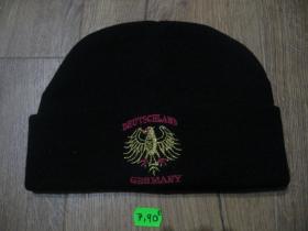 Germany - Deutschland čierna zimná čiapka s vyšívaným logom materiál 100% akryl univerzálna veľkosť
