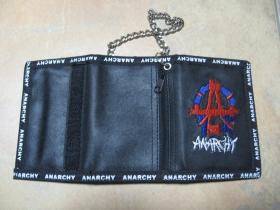Anarchy, textilno-plastiková peňaženka s retiazkou a karabínkou