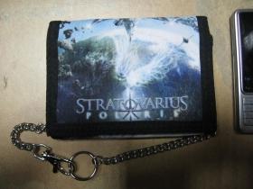 Stratovarius hrubá pevná textilná peňaženka s retiazkou a karabínkou