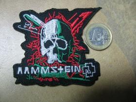 Rammstein nažehľovacia nášivka vyšívaná (možnosť nažehliť alebo našiť na odev)