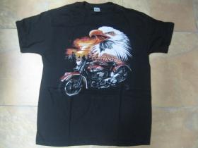 motorka / orol  čierne pánske tričko 100%bavlna
