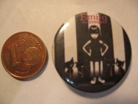 Emily The Strange plechový klasický odznak s priemerom 25mm