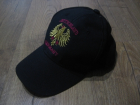 Germany - Deutschland čierna šiltovka s vyšívaným logom materiál 100% bavlna univerzálna nastaviteľná veľkosť