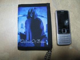 Children of Bodom  hrubá pevná textilná peňaženka s retiazkou a karabínkou
