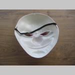 """"""" TO """"  biela plastová maska """" klaun """" na zadnej časti gumička na uchytenie"""