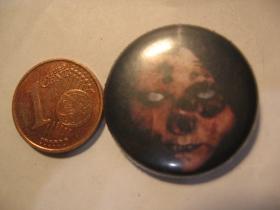 horror face plechový klasický odznak s priemerom 25mm