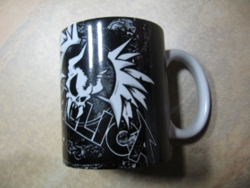 Metallica porcelánový pohár - šálka s uškom, objemom cca. 0,33L