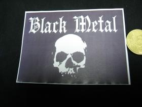 Black Metal nálepka 10x7cm