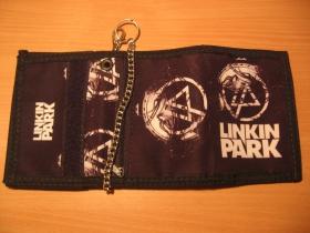 Linkin Park, hrubá pevná textilná peňaženka s retiazkou a karabínkou