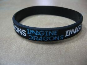 Imagine Dragons  pružný silikónový náramok s vyrazeným motívom