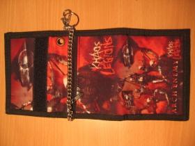 Arch Enemy, hrubá pevná textilná peňaženka s retiazkou a karabínkou