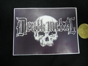 Death Metal nálepka 10x7cm