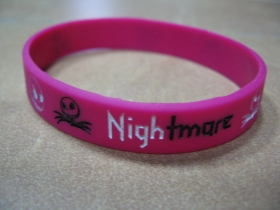 Nightmare  pružný silikónový náramok s vyrazeným motívom