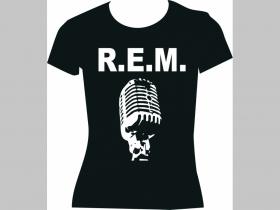 R.E.M. čierne dámske tričko 100%bavlna