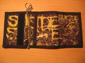 Suicide Silence, hrubá pevná textilná peňaženka s retiazkou a karabínkou