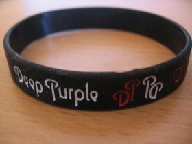 Deep Purple  pružný silikónový náramok s vyrazeným motívom