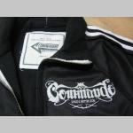 Commando industries mikina na zips s vyšívaným logom prevedenie VINTAGE (obnosená vyzáž)