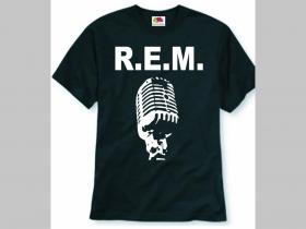 R.E.M. čierne pánske tričko 100%bavlna