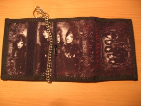 Black Veil Brides,  hrubá pevná textilná peňaženka s retiazkou a karabínkou