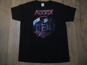 Accept čierne pánske tričko materiál 100% bavlna