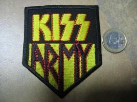 Kiss nažehľovacia nášivka vyšívaná (možnosť nažehliť alebo našiť na odev)