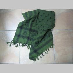 Arafatka hrubá čierno-olivovo zelená so smrtkami 100%bavlna