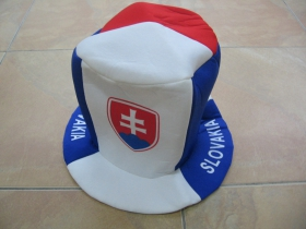 Slovakia - Slovensko fanúšikovský klobúk  materiál 100%polyester