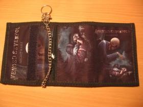 Avenged Sevenfold,  hrubá pevná textilná peňaženka s retiazkou a karabínkou