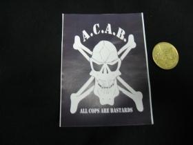 A.C.A.B.  nálepka 10x7cm