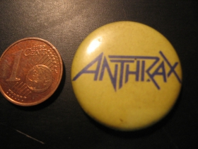 Anthrax plechový klasický odznak s priemerom 25mm