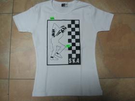 SKA, dievčenské tričko biele, 95%bavlna, 5%lykra