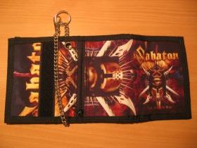 Sabaton,  hrubá pevná textilná peňaženka s retiazkou a karabínkou