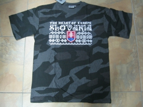 "Slovakia - Slovensko olympijské tričko "" Čičmany ""nočný maskáč-Nightcamo SPLINTER 100%bavlna čičmanské vzory a symboly"