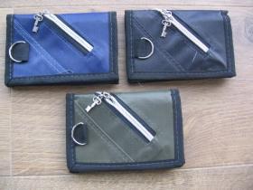 ROCK čierna pevná textilná peňaženka  3.farby na výber