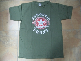 Agnostic Front, pánske tričko olivovo zelené 100%bavlna