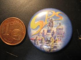 SPS plechový klasický odznak s priemerom 25mm