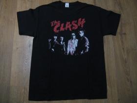The Clash čierne pánske tričko materiál 100% bavlna