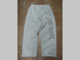 Pit Bull, tepláky, biele s tlačeným logom JH0303 65%bavlna, 35%polyester