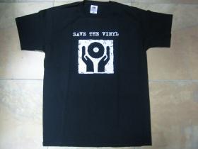 Save The Vinyl pánske tričko 100%bavlna značka Fruit of The Loom