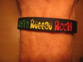 Rasta Reggae Roots, pružný gumenný náramok s vyrazeným motívom