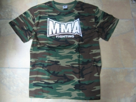 MMA Fighting pánske maskáčové tričko 100%bavlna
