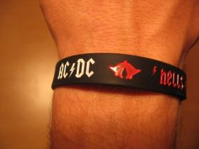 AC/DC Hells Bells, pružný gumenný náramok s vyrazeným motívom