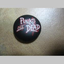 Punks not Dead odznak priemer 25mm