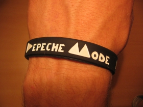 Depeche Mode, pružný gumenný náramok s vyrazeným motívom