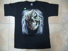 Smrtka,  čierne pánske tričko 100%bavlna