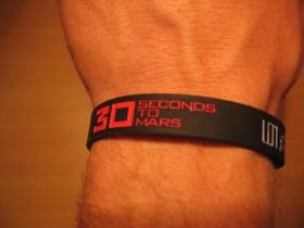 30 seconds to Mars, pružný gumenný náramok s vyrazeným motívom