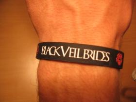 Black Veil Brides, pružný gumenný náramok s vyrazeným motívom